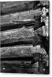 Corner-logs Acrylic Print