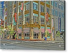 Corner Of 4th Acrylic Print by Karol Livote