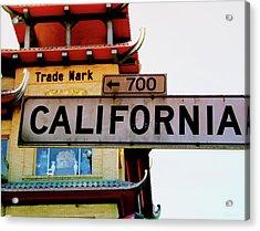 Corner Of California- Art By Linda Woods Acrylic Print