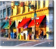 Corner Of Center And Merchant Rutland Vt Acrylic Print by Susan Savad