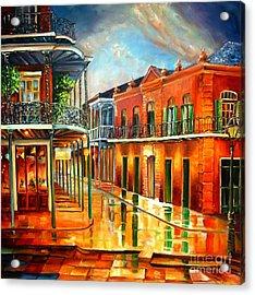 Corner Of Jackson Square Acrylic Print by Diane Millsap