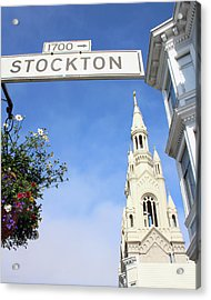 Corner Of Stockton-  By Linda Woods Acrylic Print