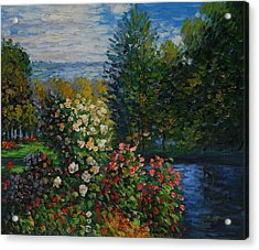 Corner Of The Garden At Montgeron Acrylic Print by Claude Monet