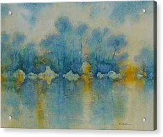 Cornish Blue Acrylic Print by Georg Schedlbauer