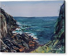 Cornish Clffs Acrylic Print by Genevieve Brown