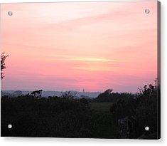 Cornish Sunset Acrylic Print by Tony Payne