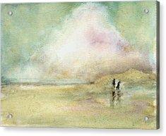 Corolla Beach Stroll Acrylic Print by Donna Elio