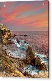 Corona Del Mar Coastline Acrylic Print