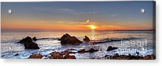 Corona Del Mar Sunset Panorama Acrylic Print