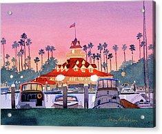Coronado Boathouse After Sunset Acrylic Print