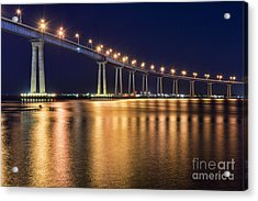 Coronado Bridge Acrylic Print by Eddie Yerkish