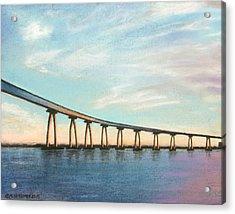 Coronado Bridge Sunset A Acrylic Print