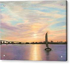 Coronado Bridge Sunset  B Acrylic Print