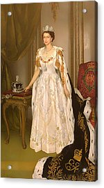 Coronation Portrait Of Queen Elizabeth II Of The United Kingdom Acrylic Print by Mountain Dreams