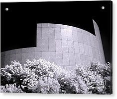 Corporate Architecture And Trees Acrylic Print by Yali Shi