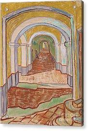 Corridor In The Asylum, September 1889 Acrylic Print by Vincent van Gogh
