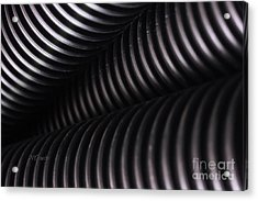 Corrugated Drain Pipe Shadow Acrylic Print