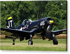 Acrylic Print featuring the photograph Corsair Close-up by Peter Chilelli