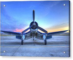 Corsair F4u At The Hollister Air Show Acrylic Print