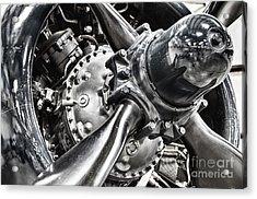Corsair F4u Engine Acrylic Print by Bryan Keil
