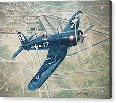 Corsair Over Mojave Acrylic Print