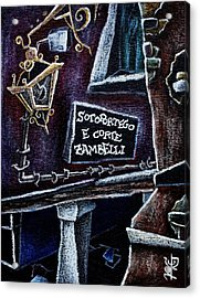Corte Zambelli - Contemporary Venetian Artist Acrylic Print by Arte Venezia