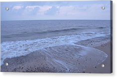 Corton Beach Dawn Ocean Waves 1 Acrylic Print by Richard Griffin