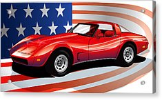 Corvette Acrylic Print by Brian Gibbs