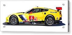 Corvette C7.r Lm Illustration Acrylic Print