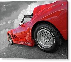 Acrylic Print featuring the photograph Corvette Daytona by Gill Billington
