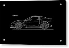 Corvette Phone Case Acrylic Print by Mark Rogan