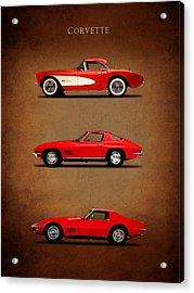 Corvette Series 1 Acrylic Print by Mark Rogan
