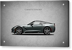 Corvette Stingray Coupe Acrylic Print by Mark Rogan