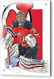 Cory Schneider New Jersey Devils Oil Art Acrylic Print by Joe Hamilton