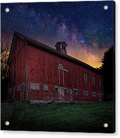 Acrylic Print featuring the photograph Cosmic Barn Square by Bill Wakeley