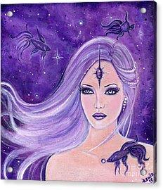 Cosmic Bettas Acrylic Print by Renee Lavoie