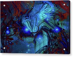 Cosmic Blue Acrylic Print