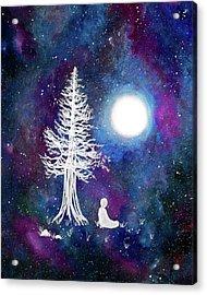Cosmic Buddha Meditation Acrylic Print by Laura Iverson
