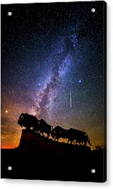 Acrylic Print featuring the photograph Cosmic Caprock by Stephen Stookey