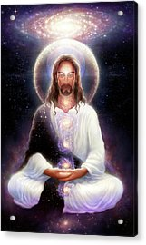 Cosmic Christ Acrylic Print by George Atherton