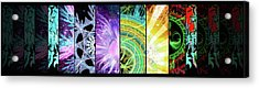 Acrylic Print featuring the mixed media Cosmic Collage Mosaic by Shawn Dall