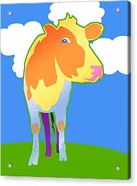 Cosmic Cow Acrylic Print by Mary Ogle