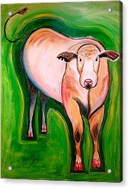 Cosmic Cow Acrylic Print