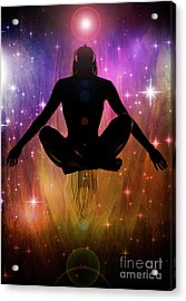 Cosmic Enlightenment... Acrylic Print by Nina Stavlund