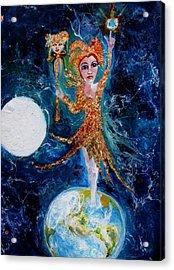 Cosmic  Fool Acrylic Print by Mary Sonya  Conti