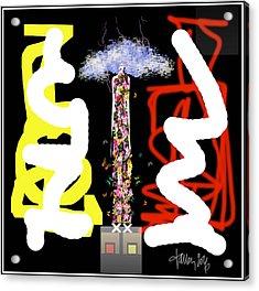 Cosmic Geisha - Angry Mountain Messenger Acrylic Print