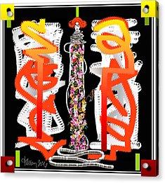 Cosmic Geisha - Dimension Hopping Acrylic Print
