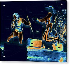 Acrylic Print featuring the photograph Cosmic Ian And Leaping Martin by Ben Upham