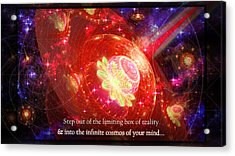 Acrylic Print featuring the mixed media Cosmic Inspiration God Source by Shawn Dall
