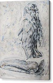 Acrylic Print featuring the painting Cosmic Love by Jarko Aka Lui Grande